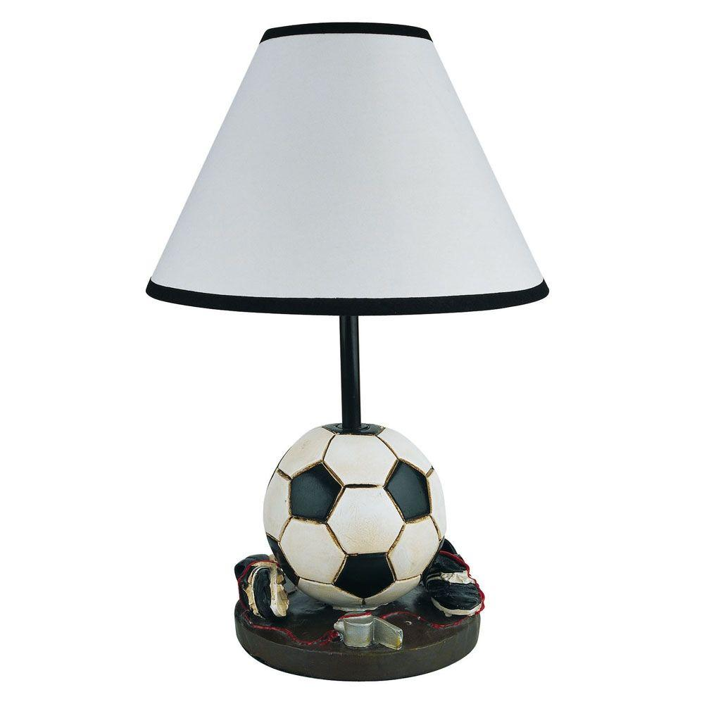 ORE International 15 in. Soccer Dark Brown Accent Lamp