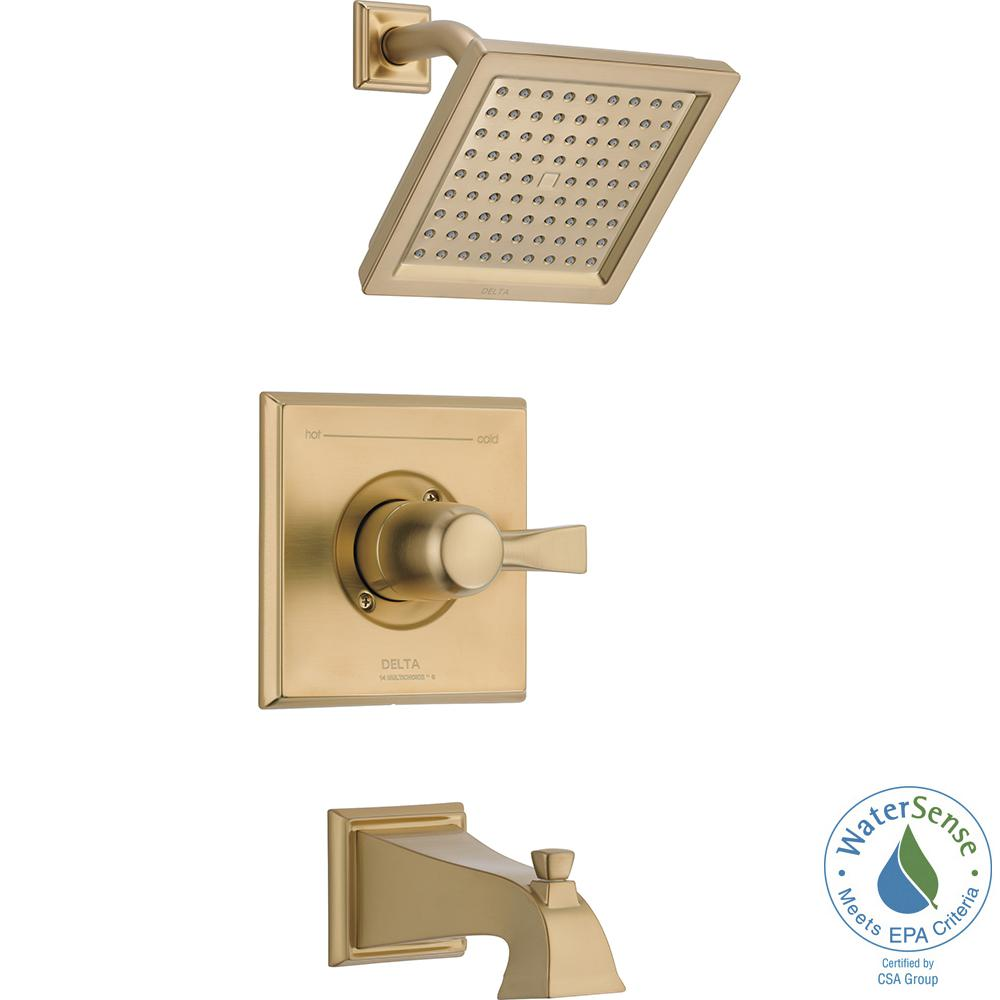 Dryden 1-Handle Tub and Shower Faucet Trim Kit in Champagne Bronze