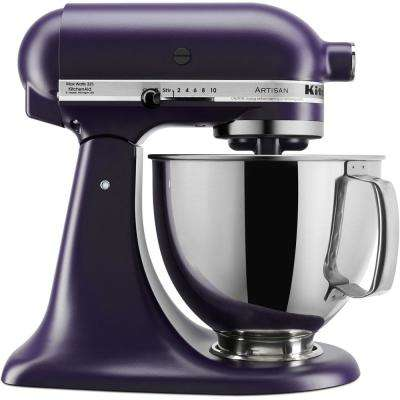 Artisan Series 5 Qt. 10-Speed Tilt-Back Black Violet Stand Mixer