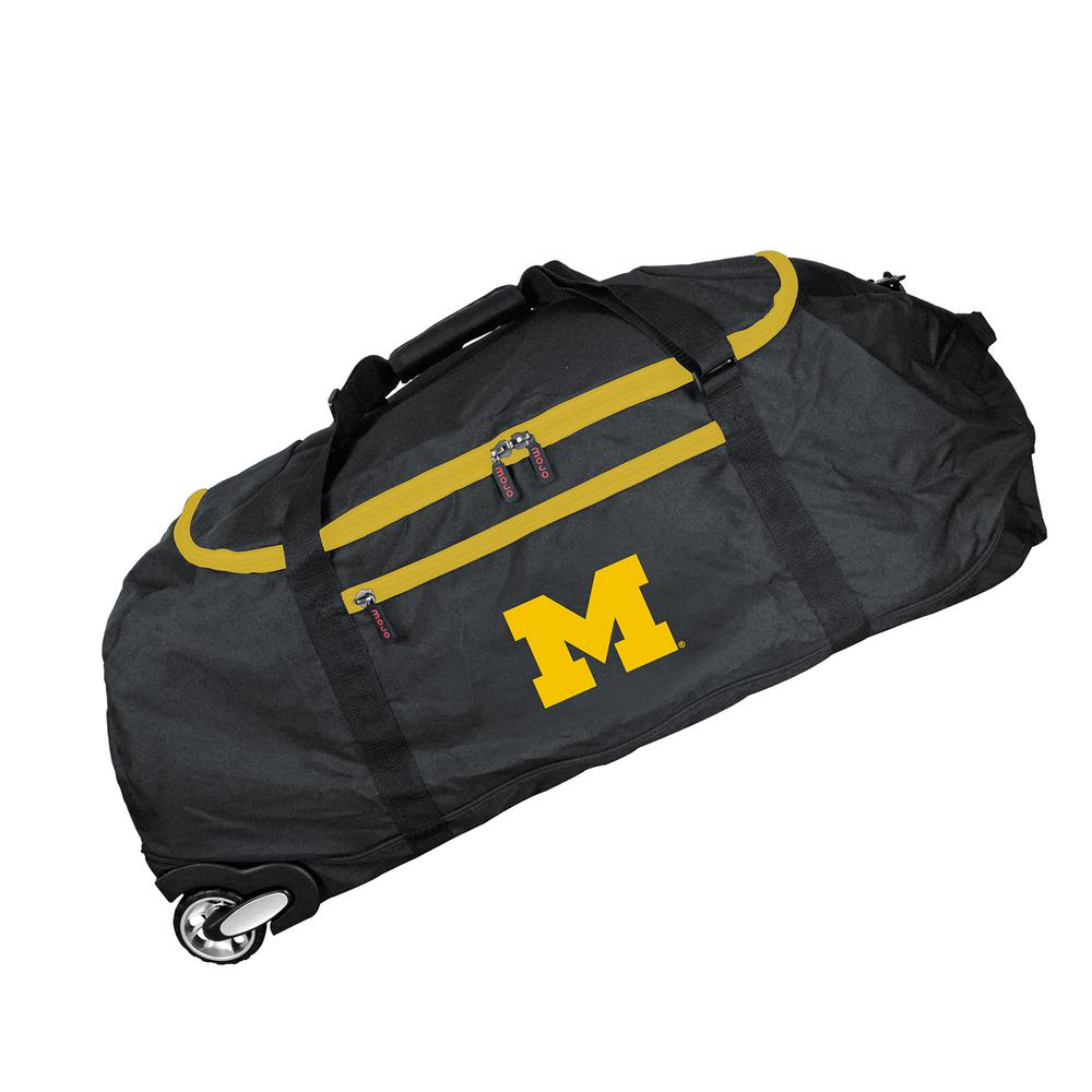 Denco NCAA Michigan 36 in. Checked-In Rolling Duffel in Black ... 14e367fd8f5cd