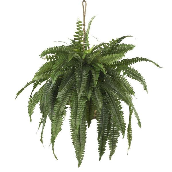 Large Artificial Boston Fern Hanging Basket