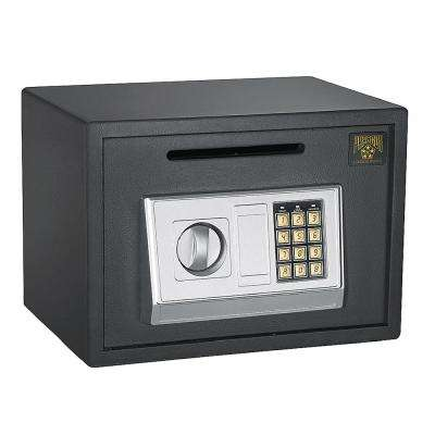0.67 cu. ft. Heavy-Duty Solid Steel Digital Depository Safe with Electronic and Key Lock