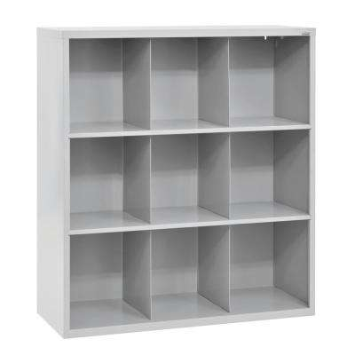 52 in. H x 46 in. W x 18 in. D Dove Gray 9-Cube Cubby Organizer