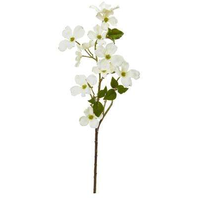 Indoor 26 in. Dogwood Artificial Flower (Set of 12)