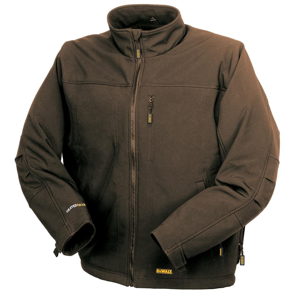 DEWALT Unisex 2X-Large Tobacco Heated Soft Shell Jacket with 20-Volt/2.0 Amp Battery and Charger