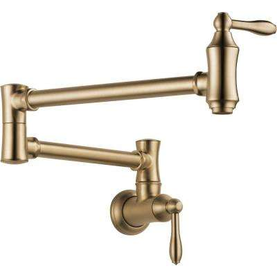 Traditional Wall Mounted Potfiller in Champagne Bronze