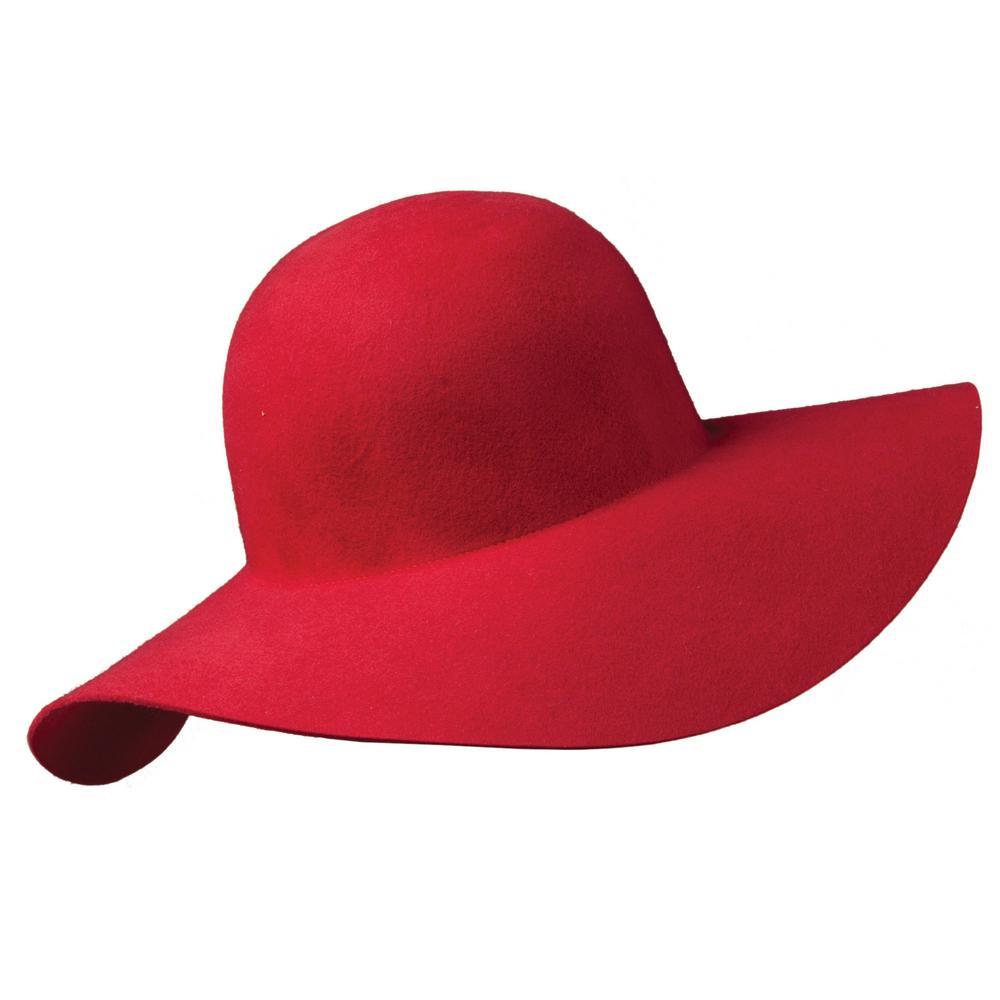 Scala 3-Big Brim Wool Felt Hat-LF41-RED - The Home Depot 7d996c6c1a5