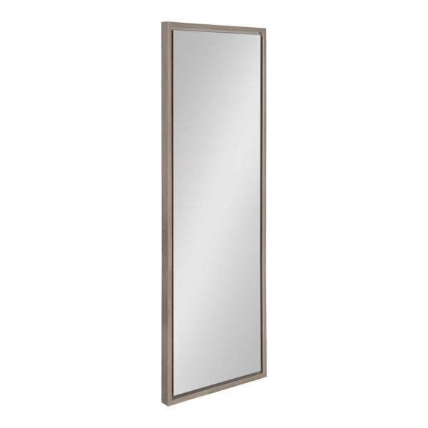 Large Rectangle Gray Modern Mirror (48 in. H x 16 in. W)