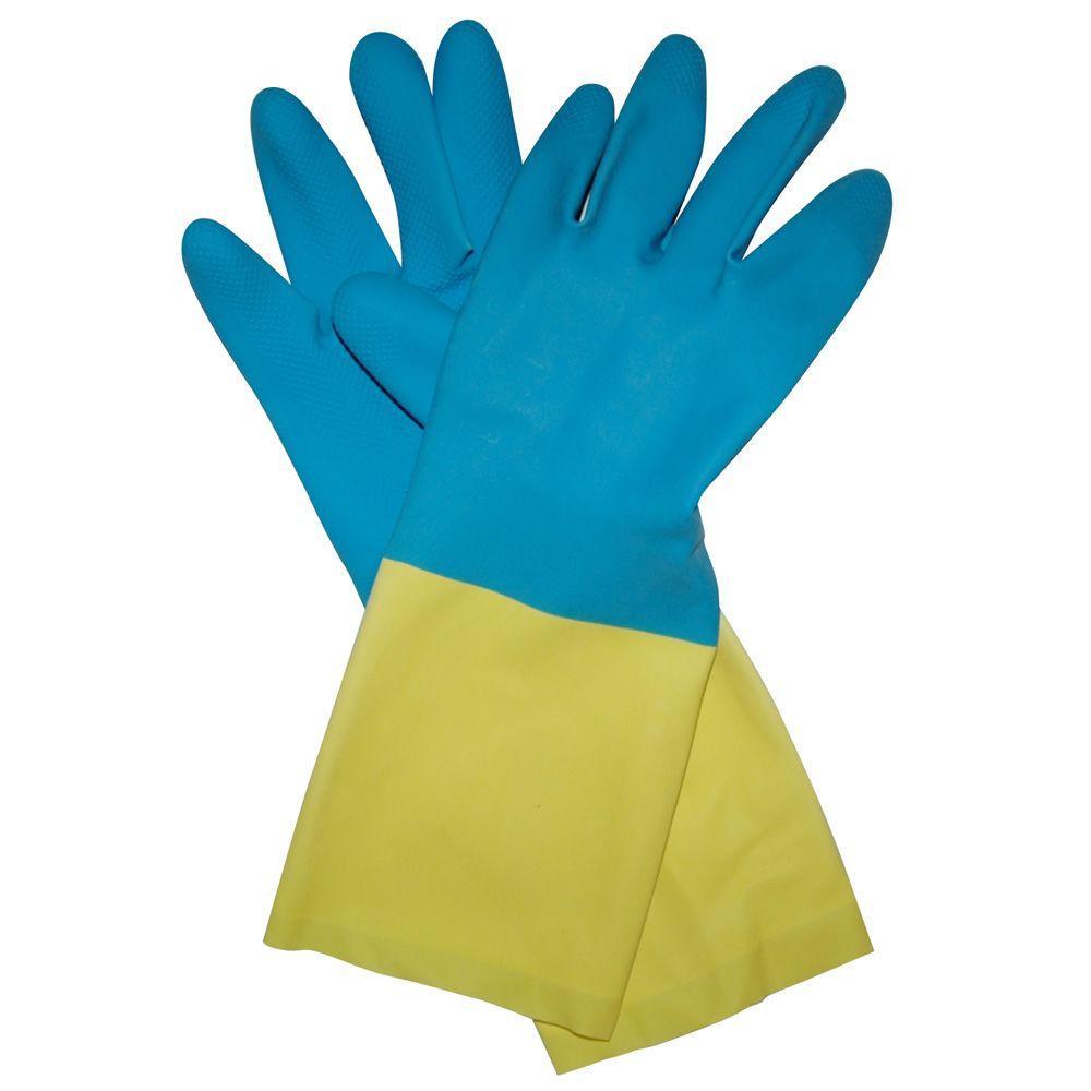 Neoprene Coated Latex Gloves - XL