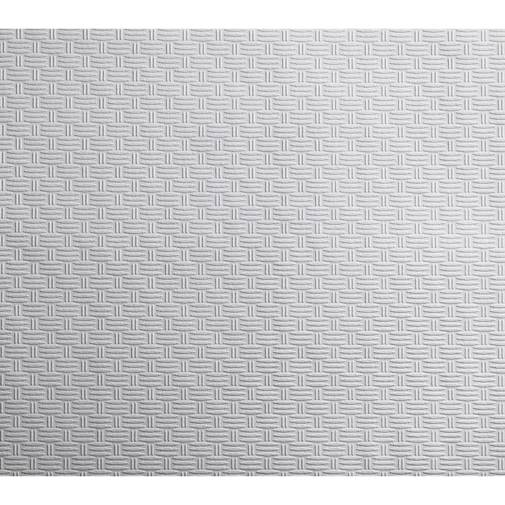 York Wallcoverings 57.75 sq. ft. Patent Decor Textured Basket Paintable Wallpaper