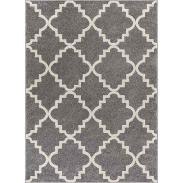 Lattice Moroccan Trellis Grey 9 Ft