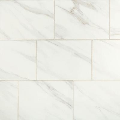 Selwyn Bianco Calacatta Glossy 10 in. x 14 in. Glazed Ceramic Wall Tile (14.25 sq. ft./case)