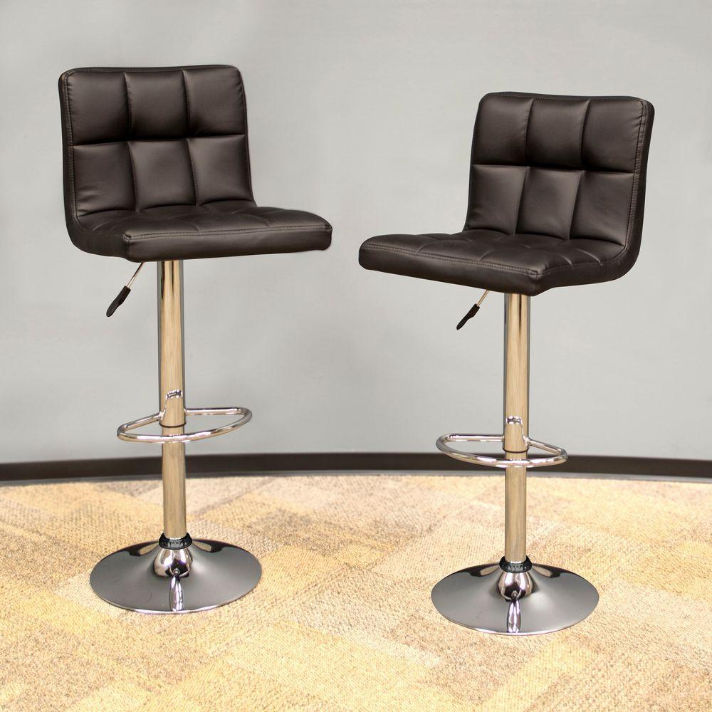 Amerihome Modern Style Adjustable Height Black Swivel