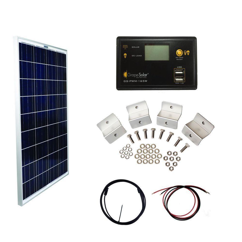 Grape Solar 100-Watt Basic Off-Grid Polycrystalline Silicon Panel Kit by Grape Solar