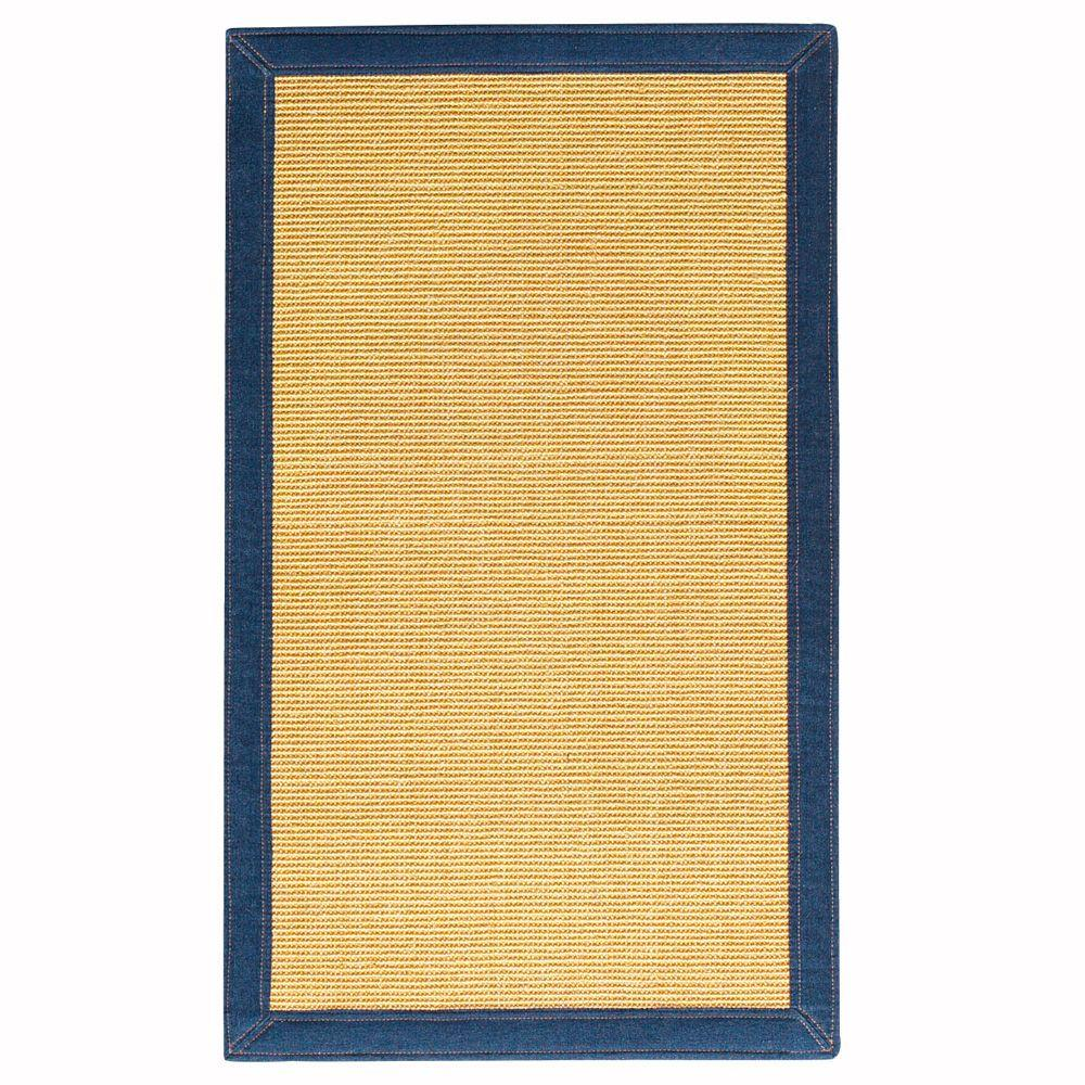 Home Decorators Collection Freeport Sisal Honey/Denim 12 ft. x 15 ft. Area Rug