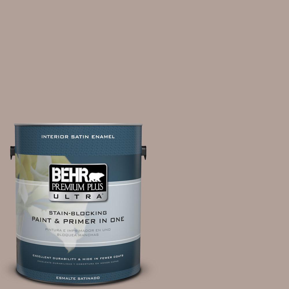 BEHR Premium Plus Ultra 1-gal. #N180-4 Moleskin Satin Enamel Interior Paint