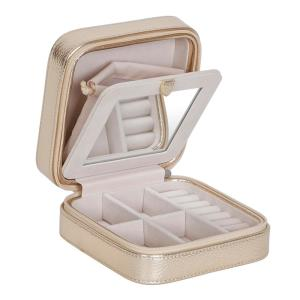 Mele Luna Gold Faux Leather Jewelry Box0062725 The Home Depot