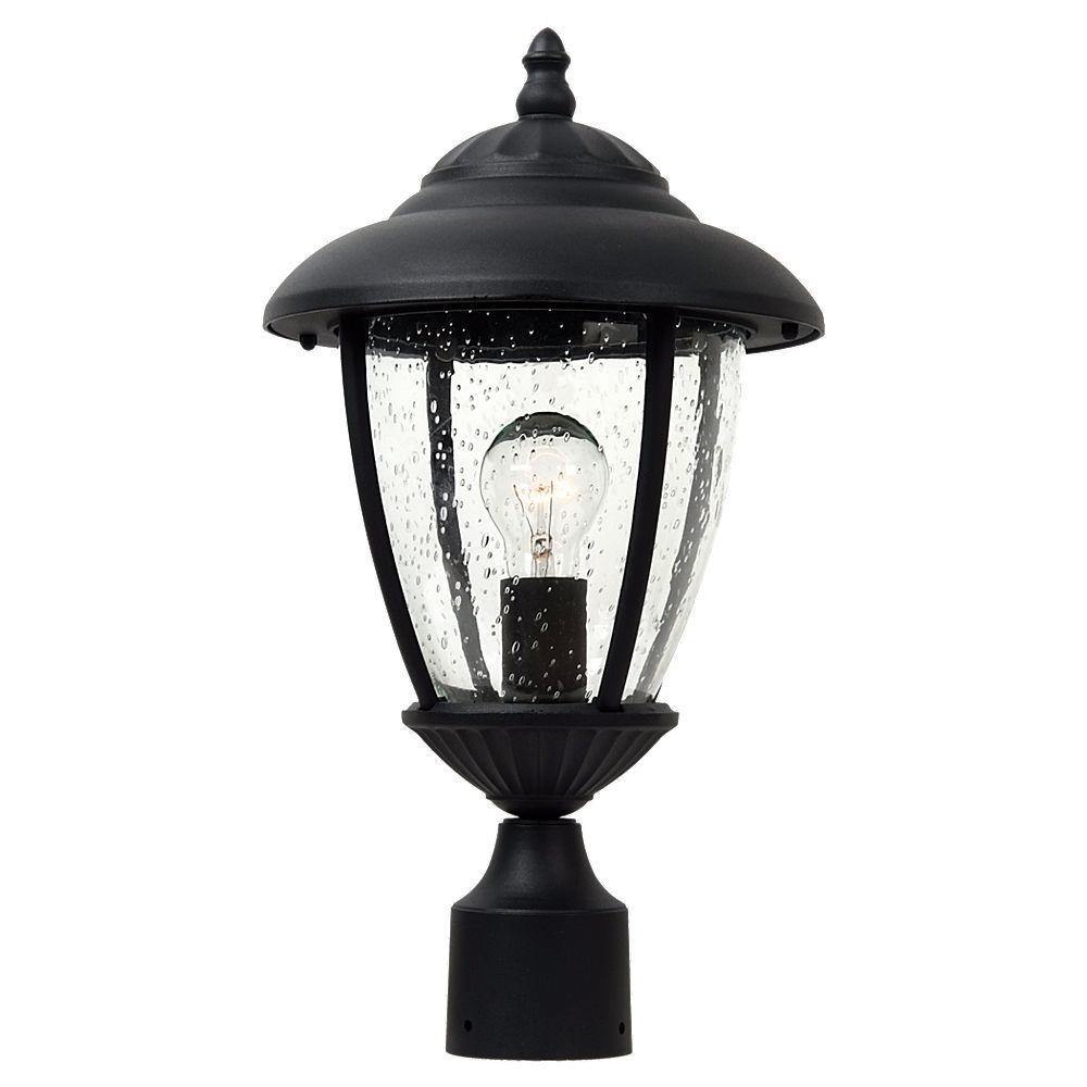 Sea Gull Lighting Lambert Hill 1-Light Black Outdoor Post Top