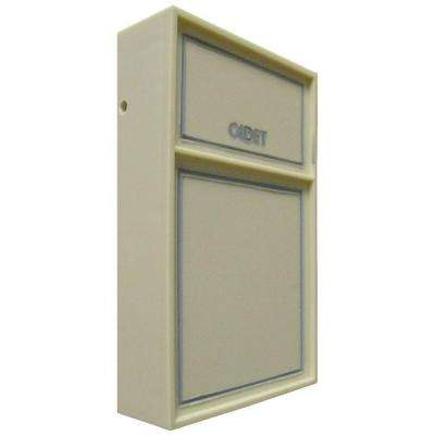 C600 Series Anticipating Ivory Bimetal Double-Pole Tamperproof 22 Amp Wall Thermostat