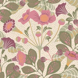 Tropisk Pink Floral Paper Strippable Roll Wallpaper (Covers 57.8 sq. ft.)