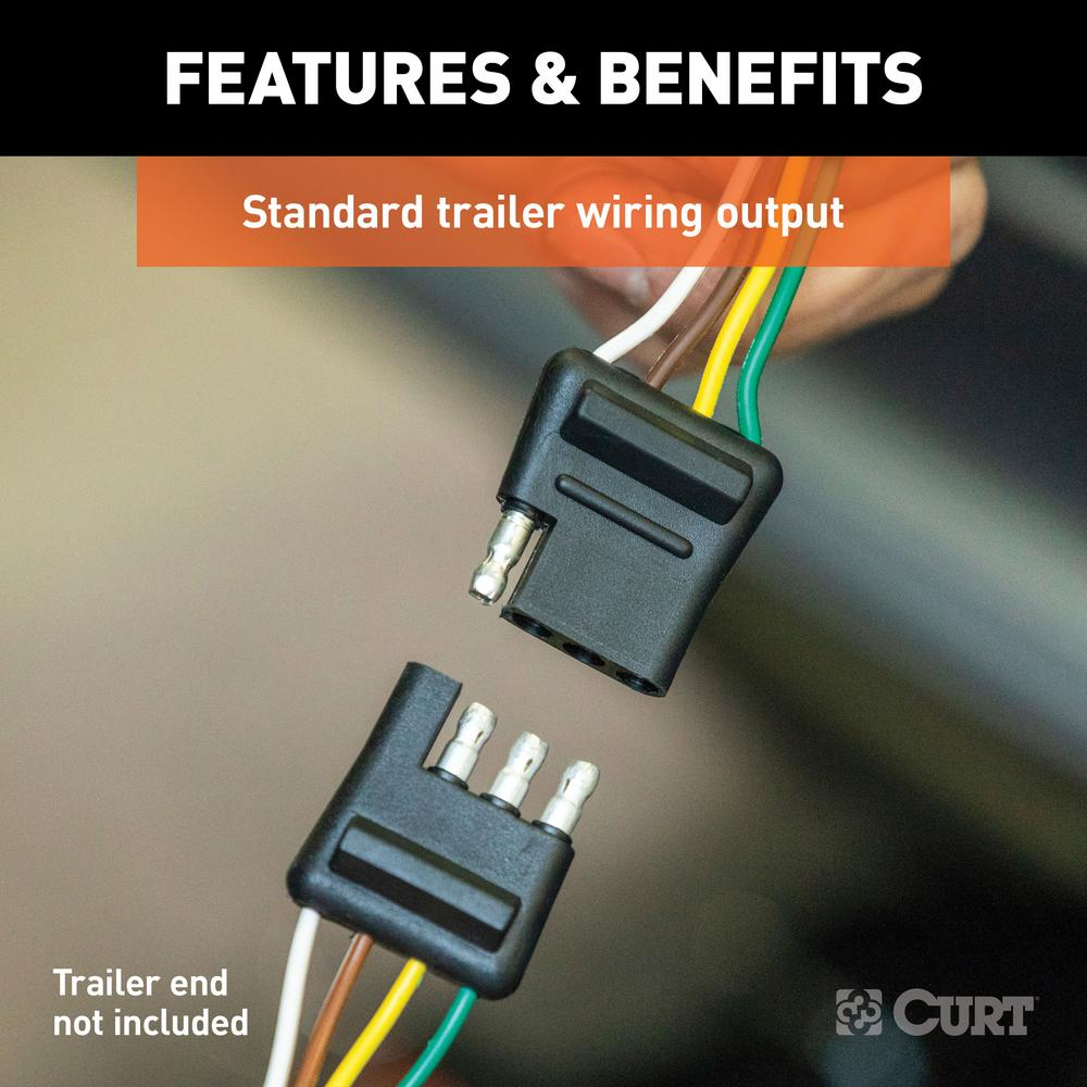curt custom vehicle-trailer wiring harness, 4-way flat output, select dodge  charger, quick electrical wire t-connector-56234 - the home depot  the home depot
