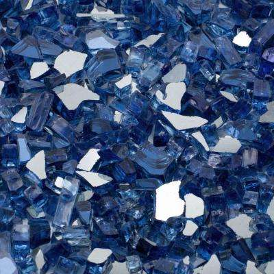 1/2 in. 25 lb. Medium Cobalt Blue Reflective Tempered Fire Glass