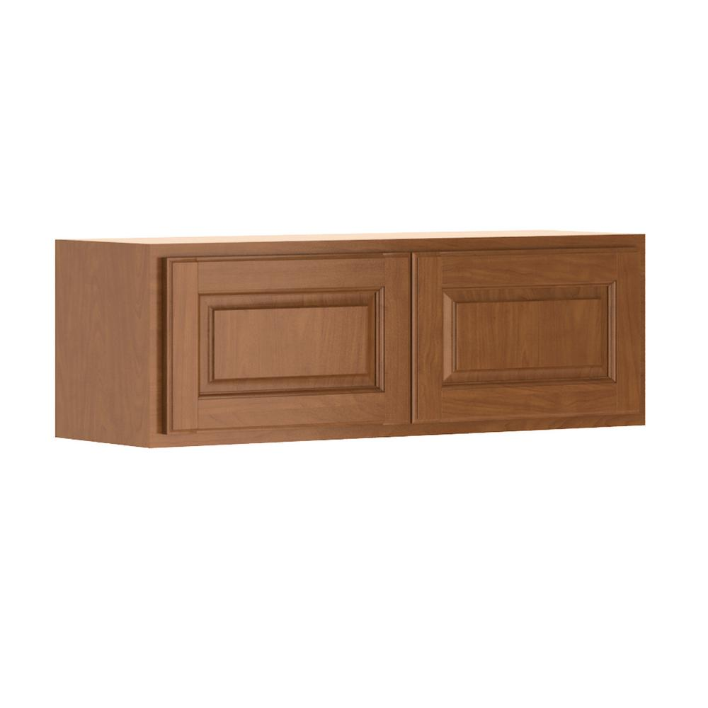 Madison Base Cabinets In Cognac: Hampton Bay Madison Assembled 36x12x12 In. Wall Bridge