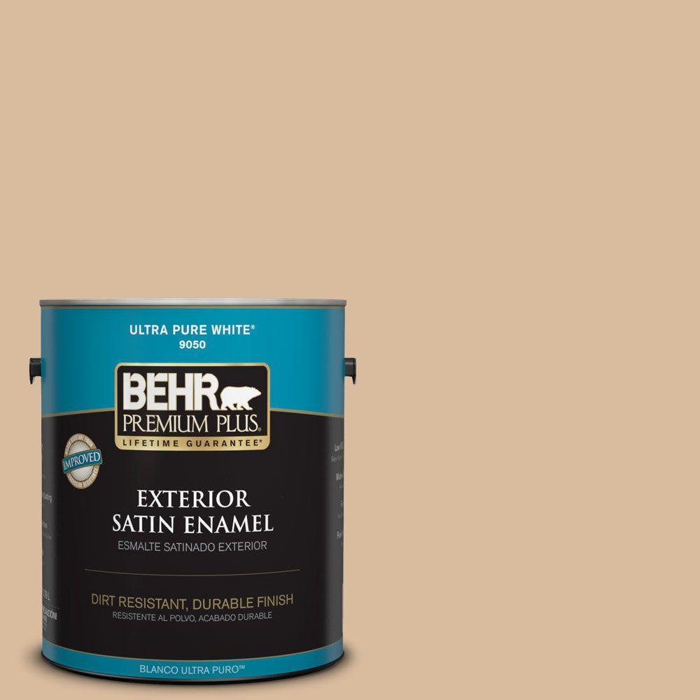 1-gal. #BXC-40 Soft Wheat Satin Enamel Exterior Paint