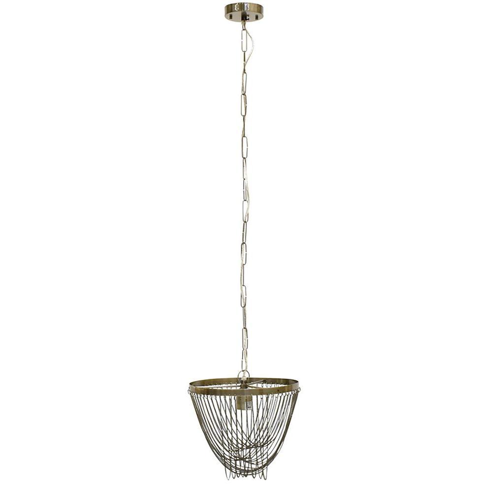 Renwil Manakin 1 Light Antique Silver Pendant Lpc120 The Home Depot