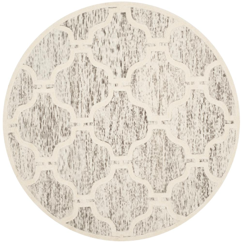 Cambridge Light Brown/Ivory 6 ft. x 6 ft. Round Area Rug