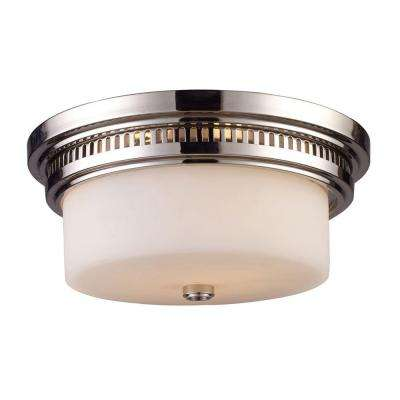 Chadwick 2-Light Polished Nickel Ceiling Flushmount