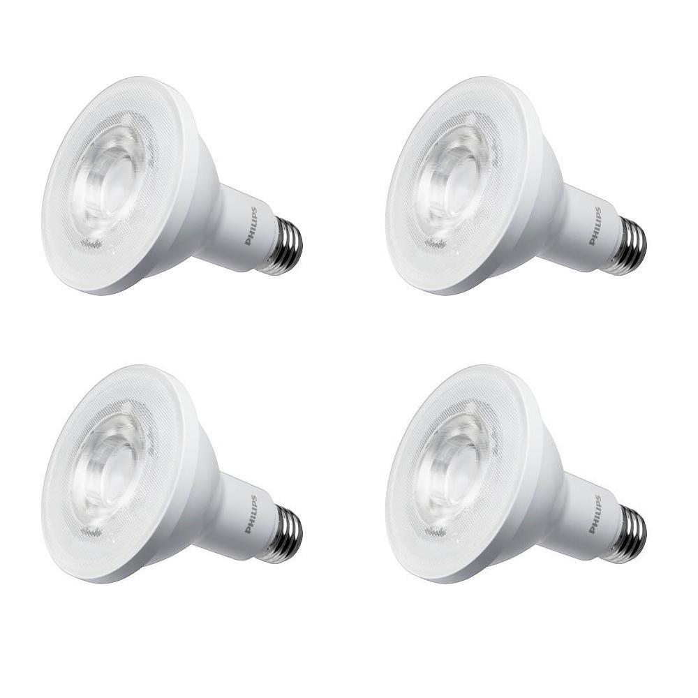Philips 75 Watt Equivalent Par30l Indoor Outdoor Household Led Light Bulb Bright White 4 Pack