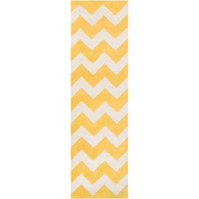 Transit Penelope Butter 2 ft. x 8 ft. Indoor Runner Rug