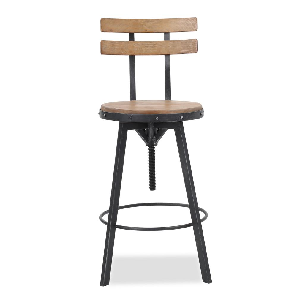 Noble House Noble House 39 in. Fenix Antique Adjustable Bar Stool
