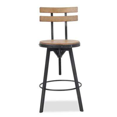 39 in. Fenix Antique Adjustable Bar Stool