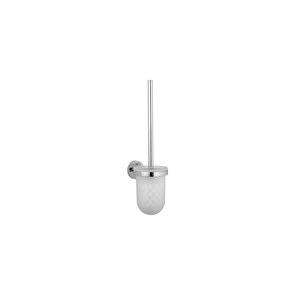 Grohe Essentials Metal Wall Mounted Toilet Brush And Holder In Starlight Chrome 40374001 The Home Depot