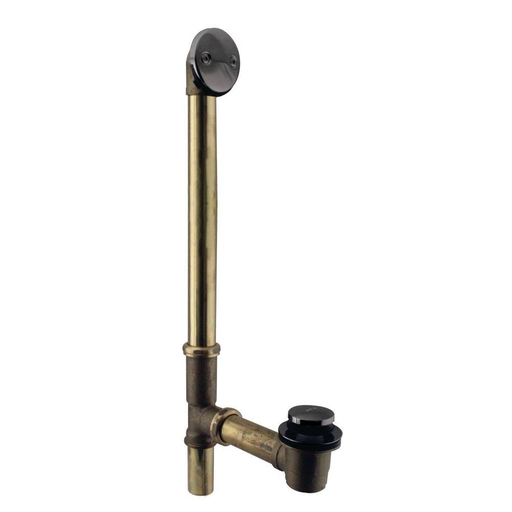 Westbrass 10 in. 17 Gauge Brass Tip-Toe Drain