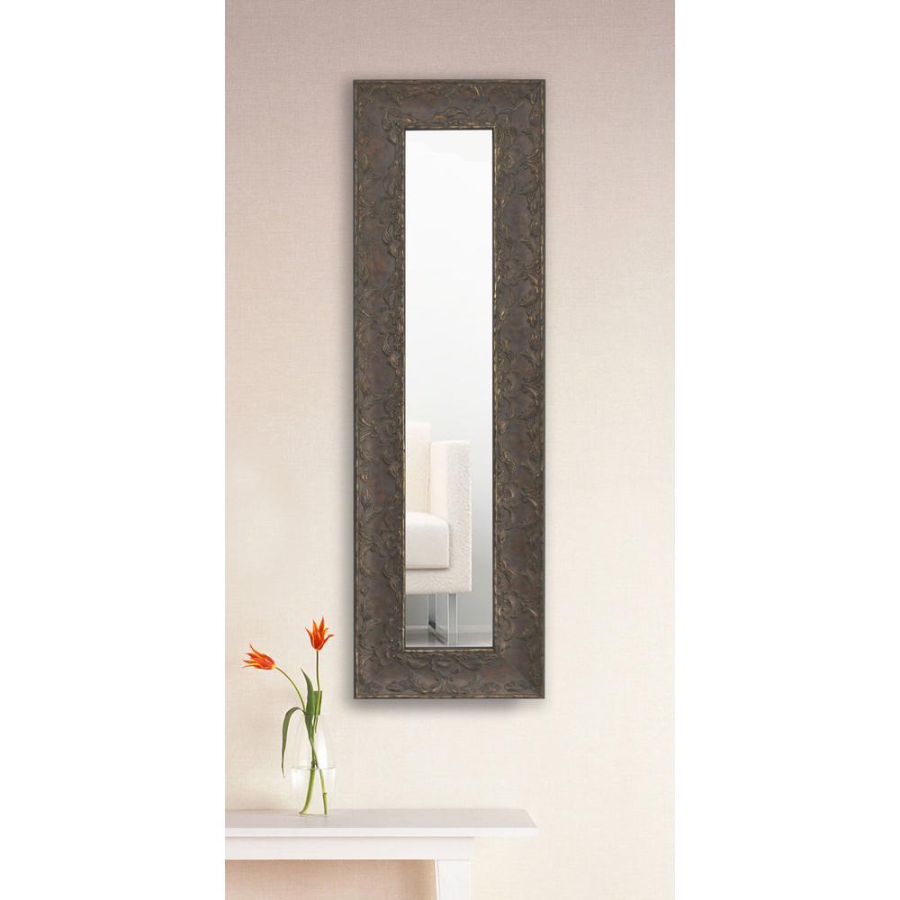 22 in. x 10 in. Maclaren Brown Vanity Mirror Single Panel