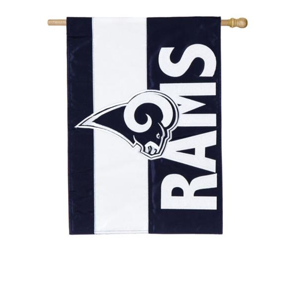 Team Sports America 2 1 3 Ft X 3 2 3 Ft Los Angeles Rams 2 Sided Embellished House Flag 15sf3828 The Home Depot