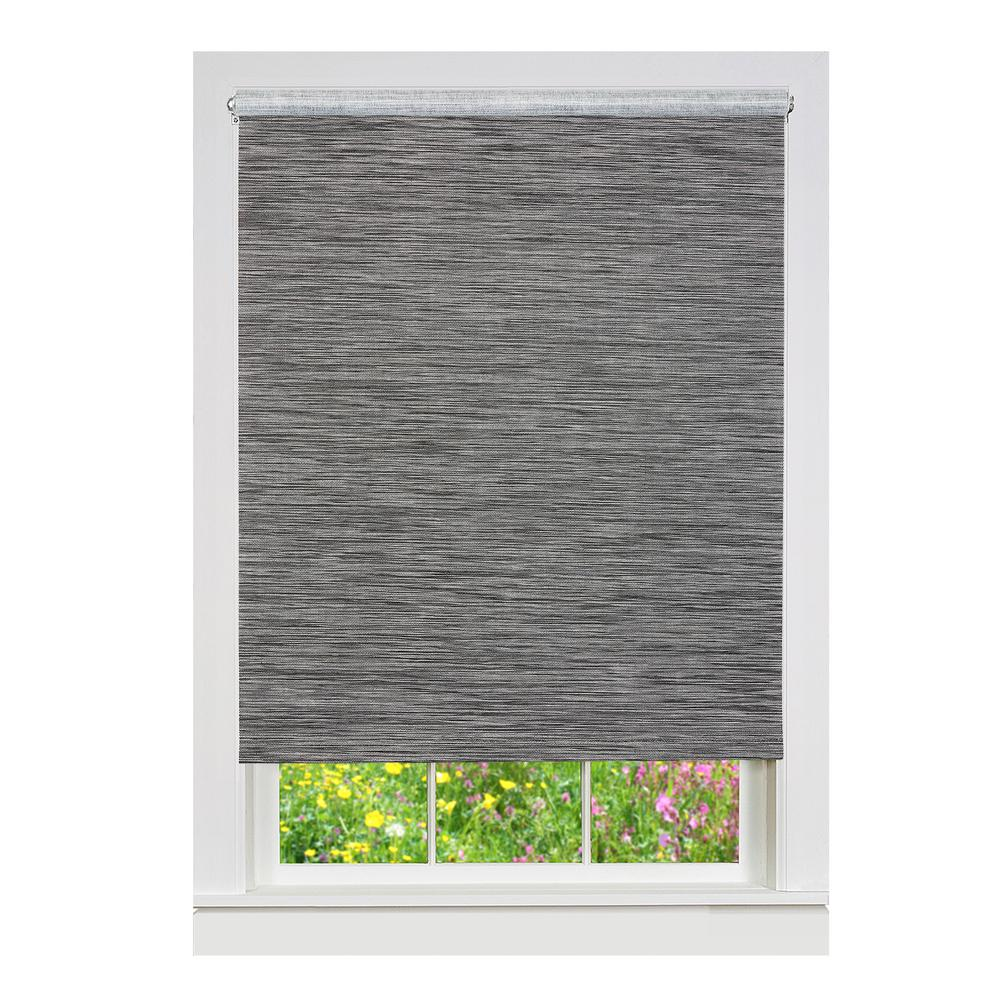 Achim Smoke Cordless Fabric Privacy Roller Shade - 27 in ...