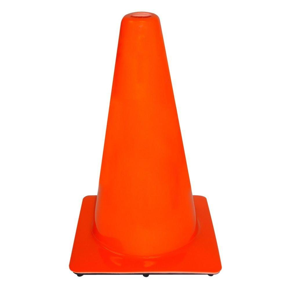 3M 18 in. Orange PVC Non Reflective Traffic Safety Cone (...