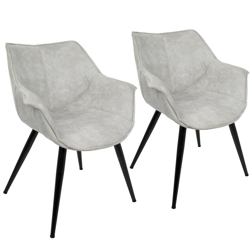 Lumisource Wrangler Light Grey Accent Chair (Set Of 2)