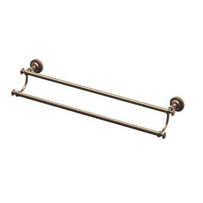 Tavern 24 in. Double Towel Bar in Bronze