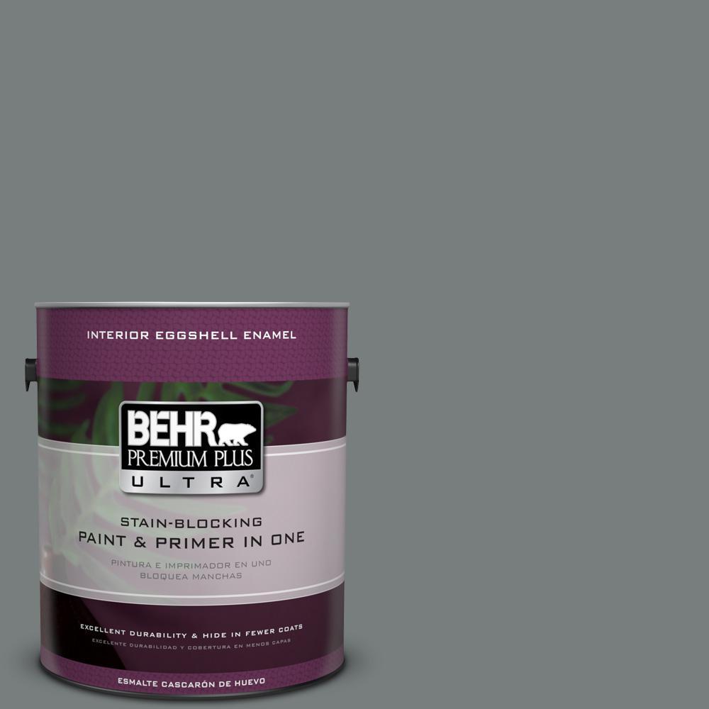 1 gal. #PPU25-18 Shutter Gray Eggshell Enamel Interior Paint