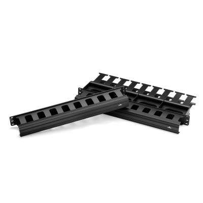 Cable Management Solutions 1RU 1.5 in. x 3 in. Front and 1RU 1.5 in. x 4 in. Rear Horizontal Cable Management, Black