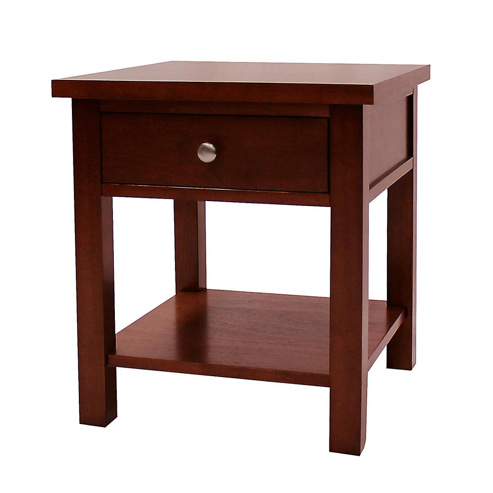 Cherry Side Table ~ Donnieann oakdale cherry end table the home depot