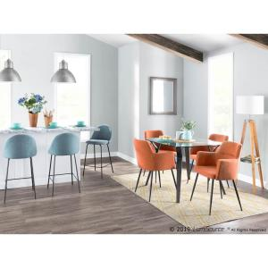 Phenomenal Lumisource Andrew Contemporary Orange Dining Accent Chair Camellatalisay Diy Chair Ideas Camellatalisaycom