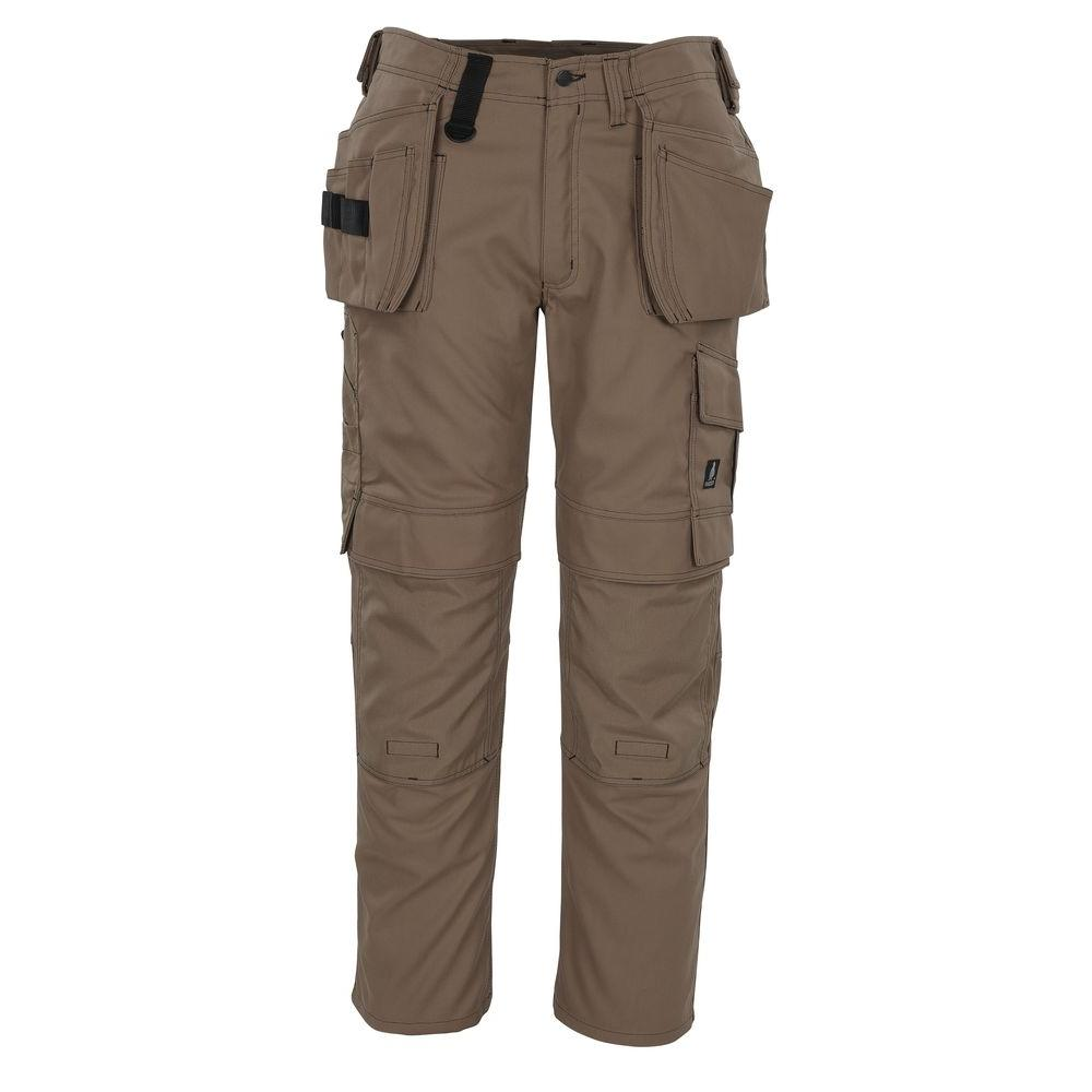 MASCOT Men's 38 in. x 35 in. Khaki 65% Polyester/35% Cotton Ronda Craftsmen Work Pant