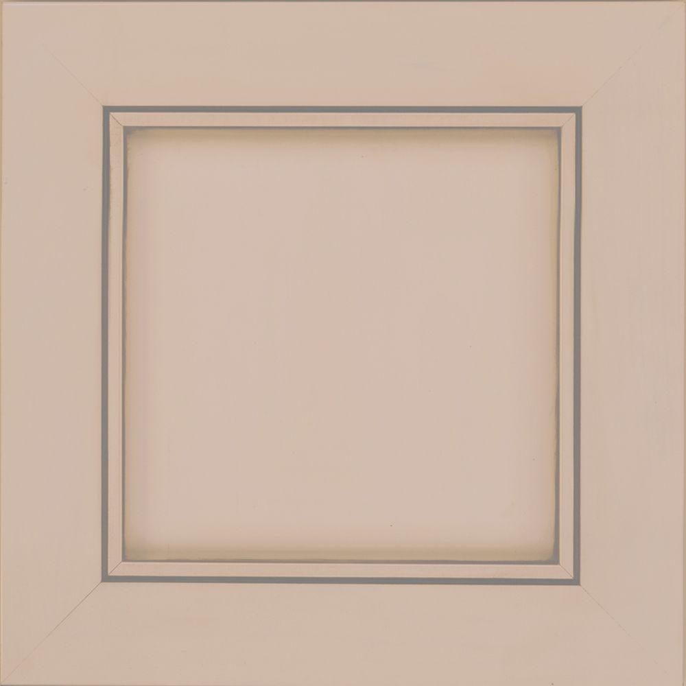 15x15 in. Cabinet Door Sample in Carter Maple in Chai with Cinder Glaze