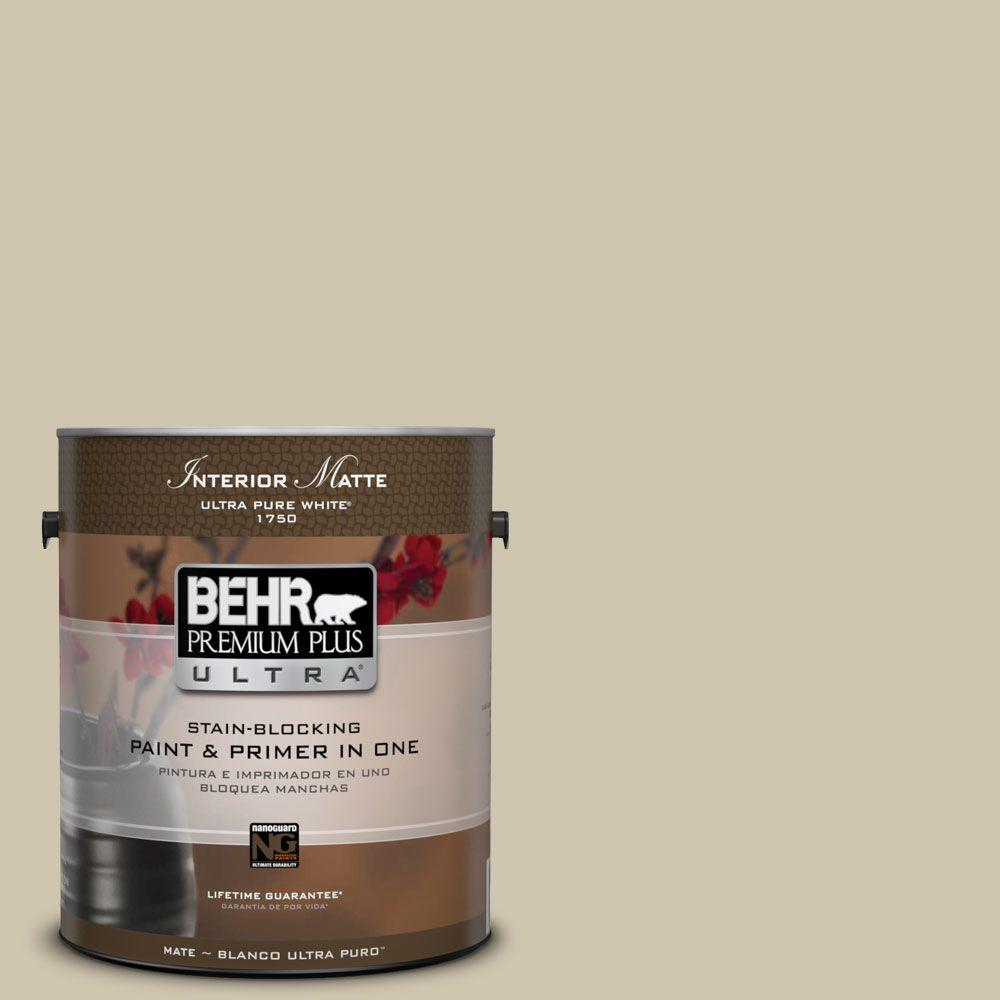BEHR Premium Plus Ultra Home Decorators Collection 1 gal. #HDC-NT-18 Yuma Sand Flat/Matte Interior Paint